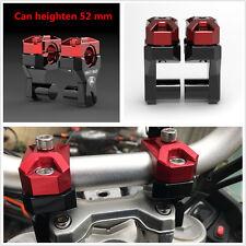 "T6 Aluminum 7/8"" Motorcycle 1 1/8"" HandleBar Handle Fat Bar Mount Clamps Riser"