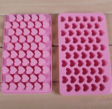 Silicone 55 Heart Cake Chocolate Cookie Ice Cube Soap Mould Jelly Baking Tool