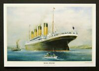 RMS Titanic Departure from Queenstown Postcards by Colin Verity Pack of 6