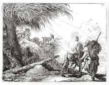 Domenico TIEPOLO - HEILIGE FAMILIE - FLUCHT nach ÄGYPTEN Lichtdruck 1910