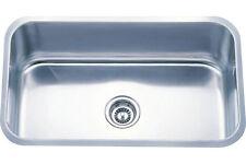 30 inch Single Bowl Undermount SS Kitchen Sink 30x18x9 18 Gauge w/FREE STRAINER