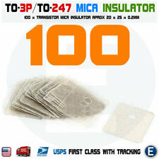 100PCS TO-3P TO-247 Insulation Pad Sheet Mica Insulator pads-thermal insulation