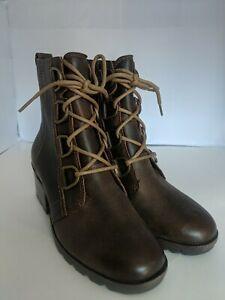 Sorel Cate Lace Waterproof Leather Bootie Velvet Tan Women's Size 7 Boot