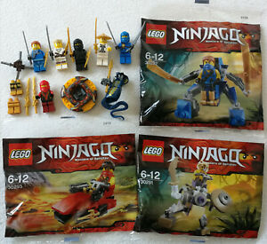 Lego ninjago 7 Figurines (Skales, Kai ), 3 Polybags(30291 30292 30293) &