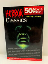 HORROR CLASSICS DVD COLLECTION rare Mill Creek BOX SET 50 RARE movies 12 discs