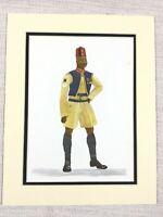 1965 Vintage Stampa Africano Soldier Bombardier Nigeriano Campo Batteria Divisa