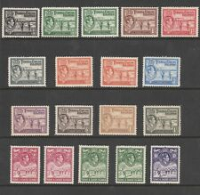 TURKS & CAICOS ISLANDS 1938 SET OF MINT GEORGE VI STAMPS INCLUDING VARIETIES