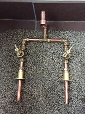 Hand Made Vintage Copper & Brass bassin Belfast évier mélangeur robinets