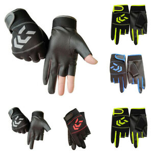 1 Pair Fishing Gloves Convenient Hand Protection Non-slip SBR Gloves Useful