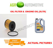 DIESEL OIL FILTER + LL 5W30 ENGINE OIL FOR VAUXHALL CORSA 1.3 75 BHP 2006-