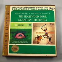 HOLLYWOOD BOWL SYMPHONY. Dances / 1812 Overture Y2P8614 Reel To Reel 3 3/4 IPS