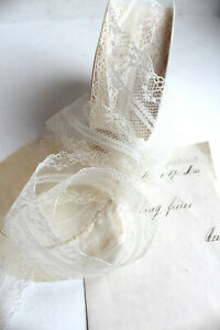 1m Spitze ♔ 38mm creme Lace Spitzenborte Dekoband Shabby Vintage Hochzeit Borte