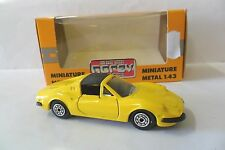 NOREV 1:43 AUTO DIE CAST CAR FERRARI 246 GTS GIALLO YELLOW CON SCATOLA  ART 1972