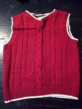 EUC The Children's Place Boys Size 3T Red Sweater Vest