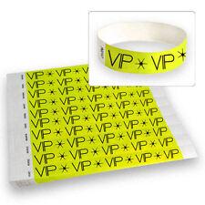 "3/4"" Tyvek Wristbands Neon Yellow VIP - 500 Count"