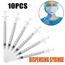 10 X 1ml Sterile Injection Plastic Syringe Oral Dispensing Medicine No Needles