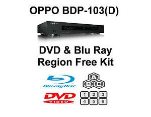 Oppo BDP-103 / 103D DVD & Blu Ray Region Free Unlock Kit.