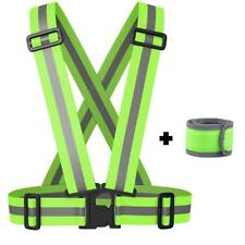 Reflective Vest with LED Armband Wristband Set Cycling Safety Night Running Jog