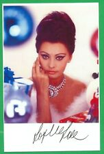 Sophia Loren 3x5 Pic/card Signed Auto Autograph (Read shipping offer)