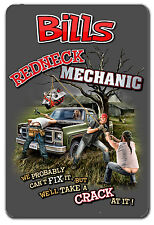GARAGE SIGN FUNNY REDNECK MECHANIC PERSONALIZED MENS GIFT