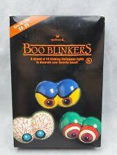 Rare Htf vintage Hallmark Boo Blinkers 10 Blinking Halloween Lights Scary Eyes
