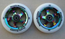 DIS 110mm Oil Slicks Metal Core Scooter Wheels(Pair-2 Wheels) w/ABEC-11 Bearings