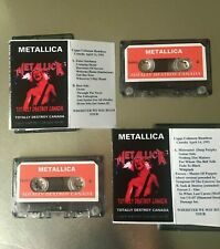 Metallica TOTALLY DESTROY CANADA 1992 HAMILTON  CASSETTE TAPE set LIVE