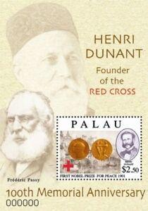 Palau- Henri Dunant 100th Memorial Anniversary Stamp Souvenir Sheet MNH