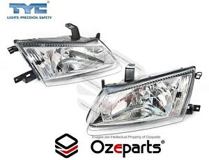 Pair LH+RH Head Light Lamp Single Reflector For Nissan Pulsar N16 00~03 Sedan
