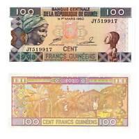 Pick 35b Guinea / Guinee 100 Francs 2012  Unc. / 843067vvv