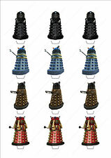 Novelty Doctor Who Daleks Stand Up Fairy Cake Cupcake Toppers Edible Birthday