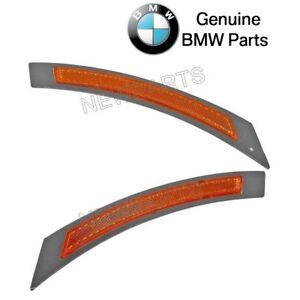 For BMW E60 E61 528i Set of Front Left & Right Reflector-Bumper Cover Yellow