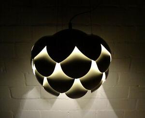 Metall Hängelampe - 70er Jahre Scandinavian Design - Bauhaus