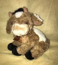 """Gund 10"""" Plush Cow Bull """"Buttercup"""" 2514 With Bell Preowned"""