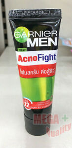 Garnier Men Acno Fight Scrub in Foam Anti Acne Dullness Face Wash 15 ML.