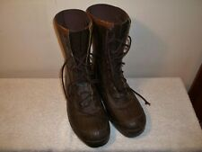 Vtg Lacrosse Made In Usa Brown Rubber Duck Hunting Lace Up Boots Size 9