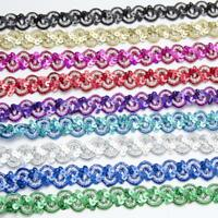 Holographic Sequin Braid Width 15mm 9 Colours Cut to length ordered or 5m & 10m