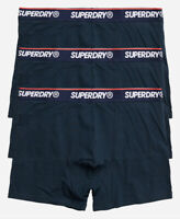Superdry Mens New 3 Pack Trunks Boxer Shorts Underwear Navy