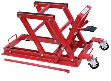 1500lb 680Kg Hydraulic Motorcycle Motor Bike Quad Lift ATV Jack workshop Red New