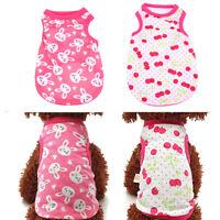 Pet Summer Clothes Puppy Dog Cat Cute T shirt Coat Vest Dress Costumes Apparel