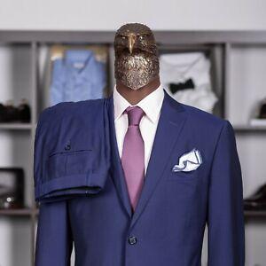Great $2400 ERMENEGILDO ZEGNA Wool Mohair Suit Blue 46US/56IT