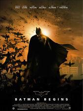 Affiche 120x160cm BATMAN BEGINS (2005) Christopher Nolan, Christian Bale NEUVE #