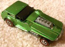 Vintage 1970s Mattel Redline Hot Wheels - THE HOOD - Bright Green Spectraflame