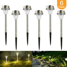 6Pack Solar Powered LED Outdoor Light Lawn Pathway Landscape Garden Walkway Lamp