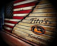 LARGE Tito's Vodka Wooden Flag