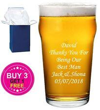 Personalised Engraved Pint Beer Glass Wedding Gift , Best Man Groom, Groomsman