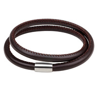 Fashion Men Women Leather Wristband Bracelet Magnetic Clasp Cuff Charm Bangle