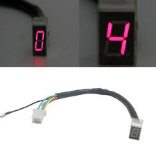 LED Universal Digital Gear Indicator Motorcycle Display Shift Lever Sensor Red @