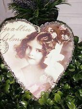 Herzanhänger Anhänger Herz Nostalgie Shabby Chic Vintage Mädchen Landhausstil