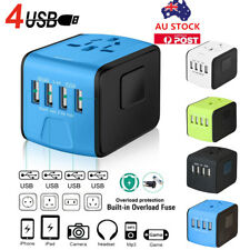 4 USB Port Universal Travel World Adapter Converter Plug Charger For AU EU US UK